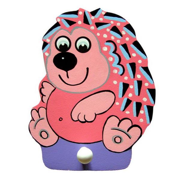 Детская вешалка с одним крючком «Ежик», Funny Animals