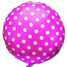 1202-2167 Фольгированный шар в горошек 44 см