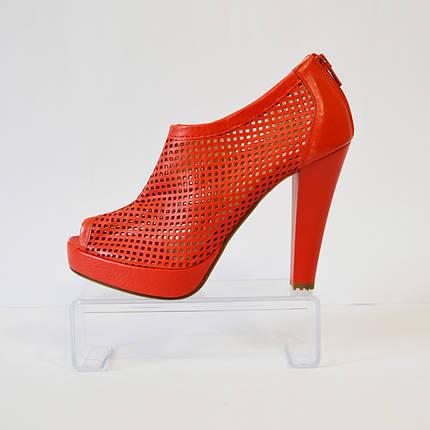 Красные босоножки на каблуке Caroline 765, фото 2