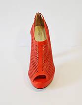 Красные босоножки на каблуке Caroline 765, фото 3