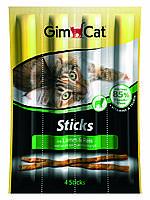 Мясные палочки Gimcat Sticks Lamb & Rice для кошек с ягненком и рисом, 4 шт