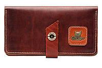 Кожаный кошелек-клатч ручной работы Gato Negro Travel