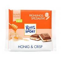 Молочный шоколад Ritter Sport Honog & Crisp -с мёдом и криспами