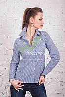 Брендовая женская блузка-рубашка от производителя весна 2017 - (код бл-83), фото 1