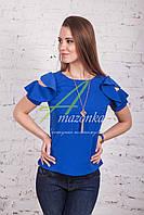 Женская блузка от производителя с открытыми плечами весна 2017 - (код бл-96), фото 1