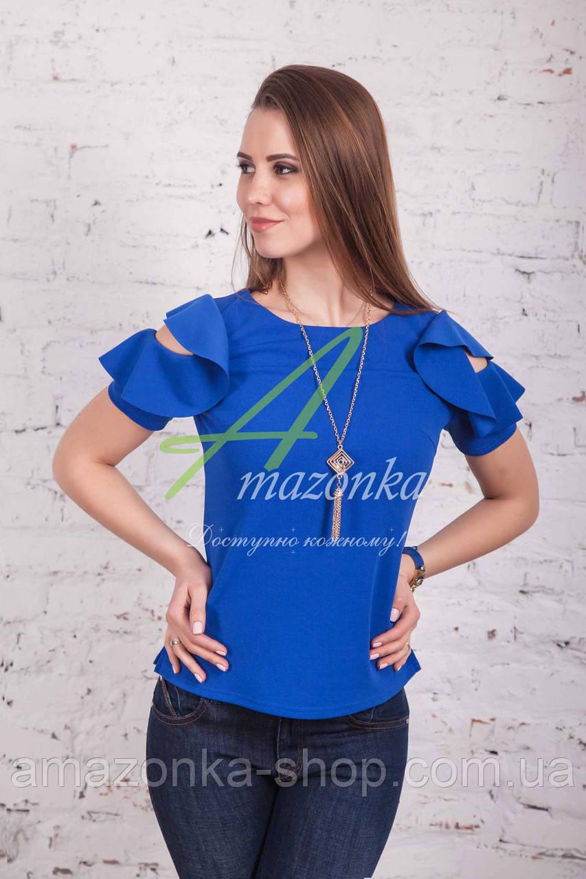 Женская блузка от производителя с открытыми плечами весна 2017 - (код бл-96)
