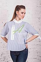 Весенняя блузка от производителя в больших размерах 2017 - (код бл-102), фото 1