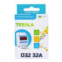 Tessla D32t - реле напряжения 32А 7кВт с термозащитой