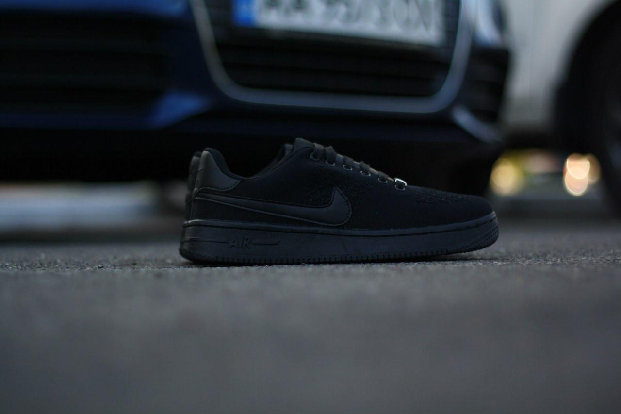 89d297bd Кроссовки в стиле Nike Air Force 1 Ultra Flyknit Low All Black мужские,  цена 1 180 грн., купить в Киеве — Prom.ua (ID#512243477)