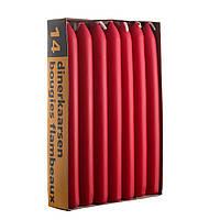 Свеча красная столовая 20х200 мм. (1 шт)