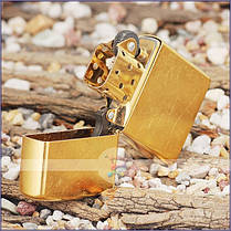 Зажигалка Zippo 207G CLASSIC gold dust, фото 2