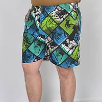 Мужские пляжные шорты - абстракция, код: 41-373