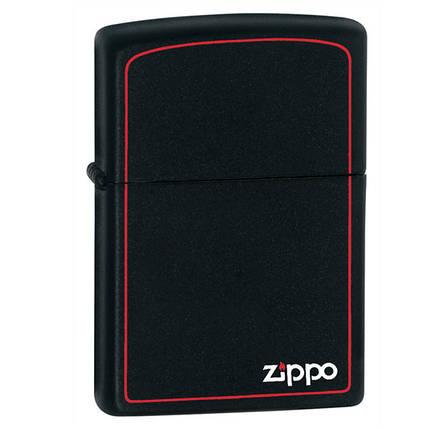 Зажигалка Zippo 218 ZB CLASSIC black matte with zippo , фото 2