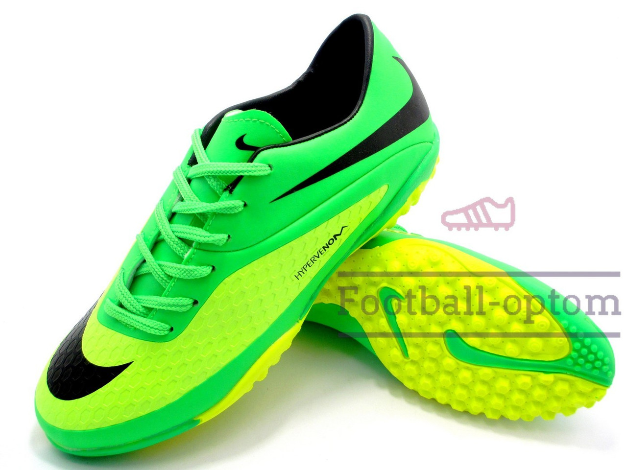Сороконожки Nike Hypervenom Phantom Найк Гипервеном Фантом, желто-зеленые,  к11442 - Футбольный c28708b71dc