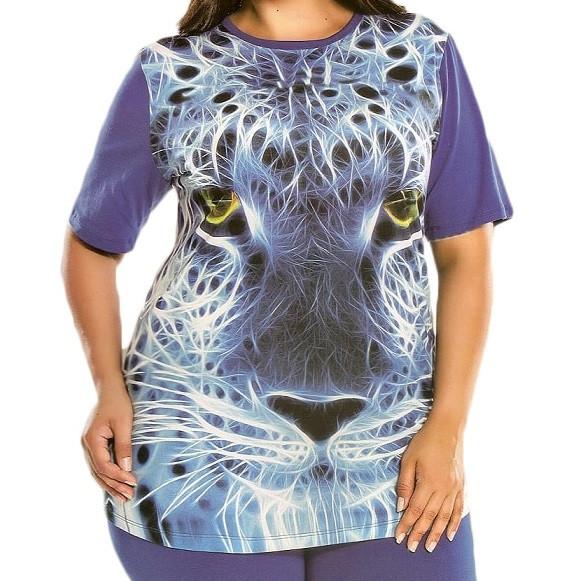 Купить в Украине Женская футболка+бриджи большого размера