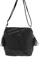 Стильная оригинальная наплечная женская сумка  KISS ME art. C-083 черная