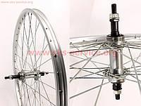 Колесо велосипедное 24  заднее алюминиевый обод, втулка 14Gx36H в сборе  под вольнобег  крепление гайка