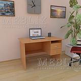 Офисный письменный стол с полкой и ящиками СР-3., фото 2