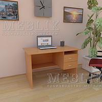 Офисный письменный стол с полкой и ящиками СР-3. Письменные столы для офиса