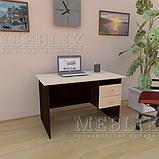 Офісний письмовий стіл з полицями і ящиками СР-3., фото 3