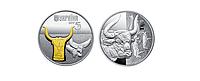 Серебряная ммонета Украины. 5 гривен 2017 год. ТУР
