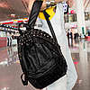 Городской рюкзак с черепками и заклепками, фото 3
