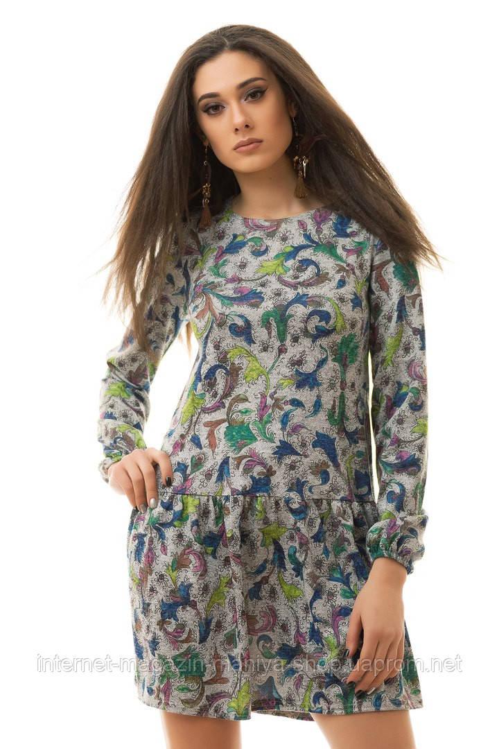Платье женское 2057 узор (деми)