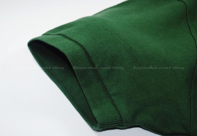 Тёмно-зелёное мужское поло 100% хлопок