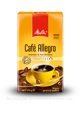 Кофе молотый Melitta Cafe Allegro 250гр