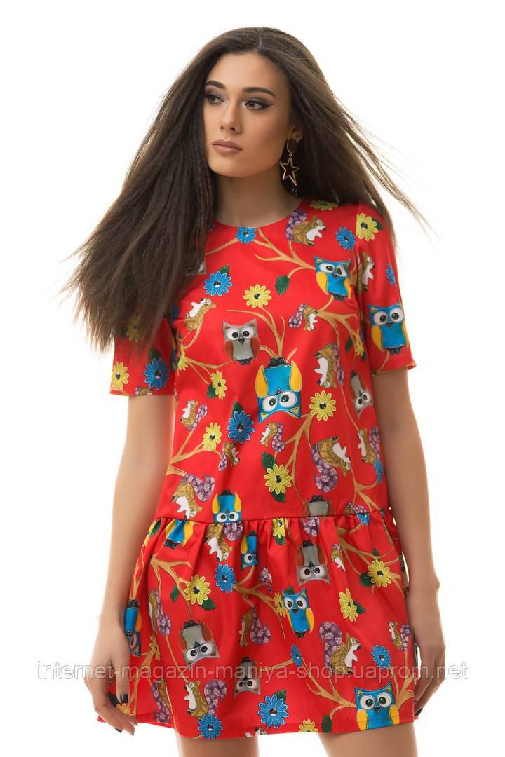 Платье женское 2058 совы (деми)