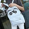 Модный городской рюкзак с принтом мотоцикла