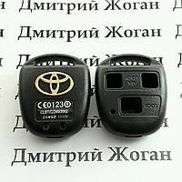 Корпус авто ключа для TOYOTA Camry (Тойота Камри) 3 кнопки , без лезвия (под установку родного)