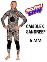 Гидрокостюм для подводной охоты BS Diver CAMOLEX Sandreef 5 мм, зеленый фотокамуфляж