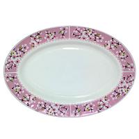 Блюдо овальное 30 см Цветение сакуры SNT 30062-15017