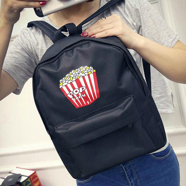 Стильный рюкзак с принтом поп корна