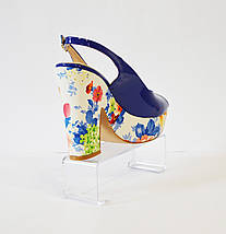 Синие босонжки на каблуке Lescarpe 401, фото 2