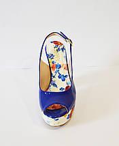 Синие босонжки на каблуке Lescarpe 401, фото 3