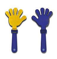 Ладошка-хлопушка для болельщиков желто-синяя 0021