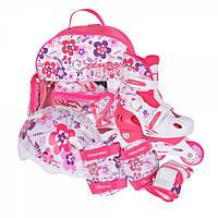 Детские раздвижные роликовые коньки Tempish Flower Baby skate (комплект) /30-33