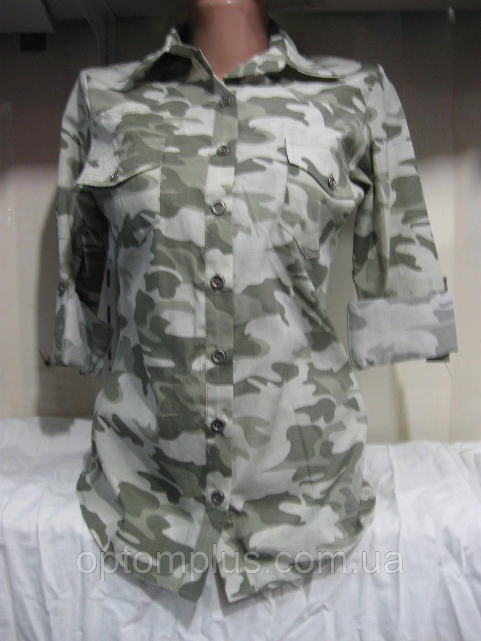 Рубашка женская (коттон) камуфляж Турция Розница