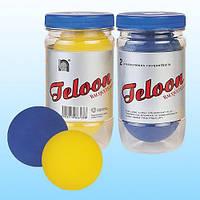 Мячик для ракетбола (для метания) TELOON (2шт) (резина, упаковка-туба)
