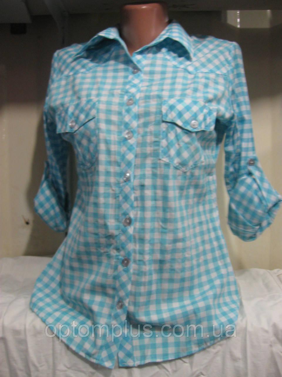 cef219885927 Купить Рубашка женская (коттон) клеточка Турция Розница