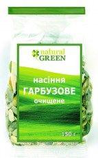 Семена тыквы очищенные NATURAL GREEN, 150 гр - Компания БиоМир в Киеве