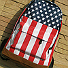 Городской рюкзак с американским и британским флагом