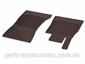 Коврики в салон коричневые резиновые Mercedes S S-Class Купе C217 W217 2015+ Новые Оригинальные