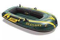 Надувная лодка  3 воздушные камеры Intex Seahawk 2  (236*114*41)
