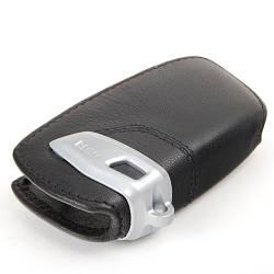 Оригинальный кожаный чехол для ключа BMW Key Holder Fob Leather Case Cover Black (82292219911)
