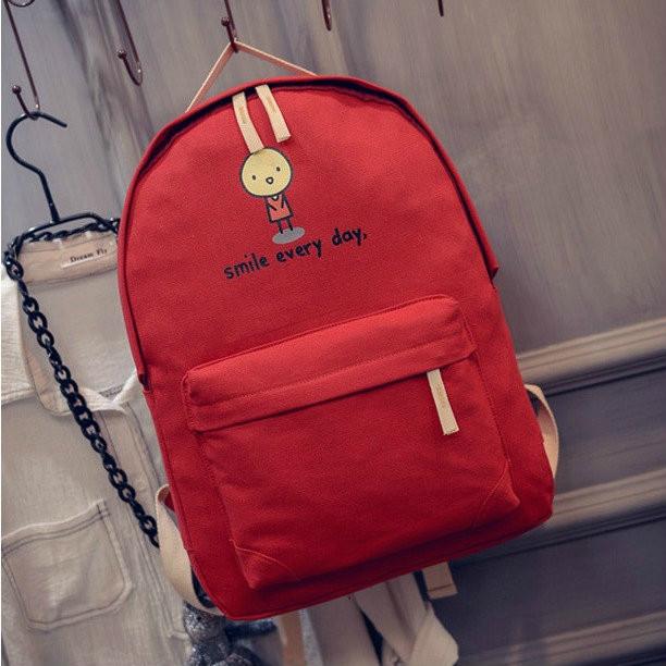 молодежный рюкзак смайлик
