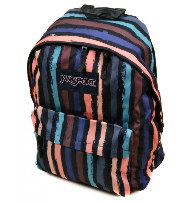 Стильный рюкзак в полоску Jansport