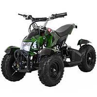 Детский  квадроцикл Profi HB-6 EATV 800-10 , 800W, 30км.ч., фара, камуфляж зеленый